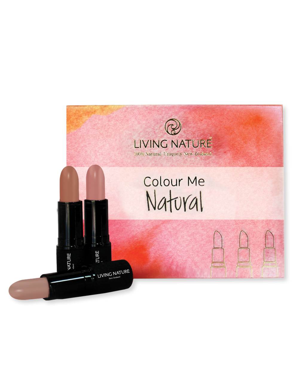 Living Nature - Colour Me Natural - 3 pack lipstick