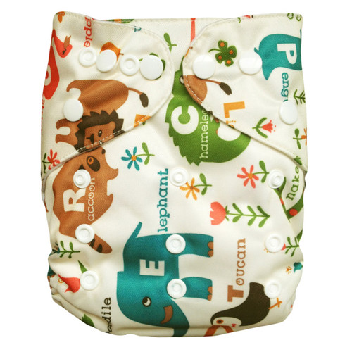 Cloth Re-usable Nappy pack. One size fits all