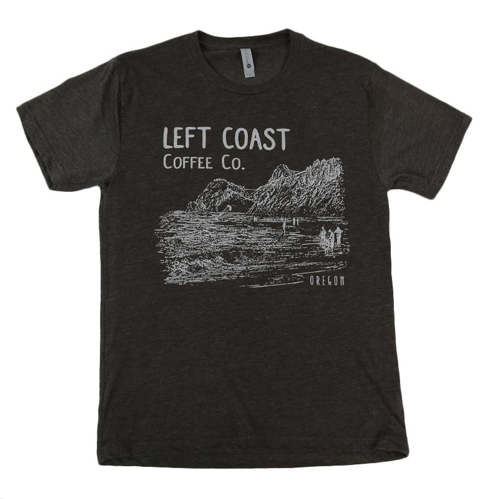 Left Coast Men's Logo Tee - Espresso