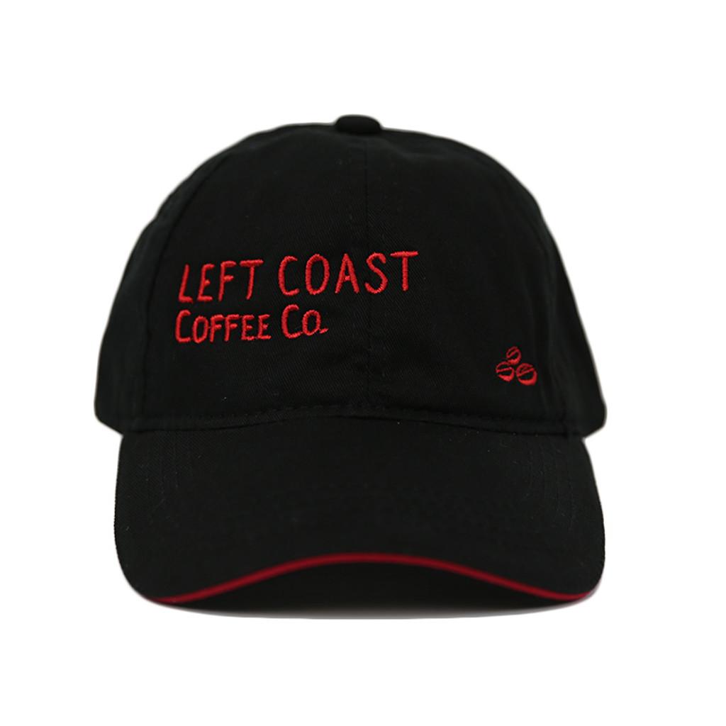 Left Coast Ball Cap - Black / Red