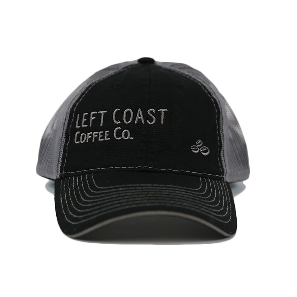 Left Coast Trucker Hat - Black / Grey