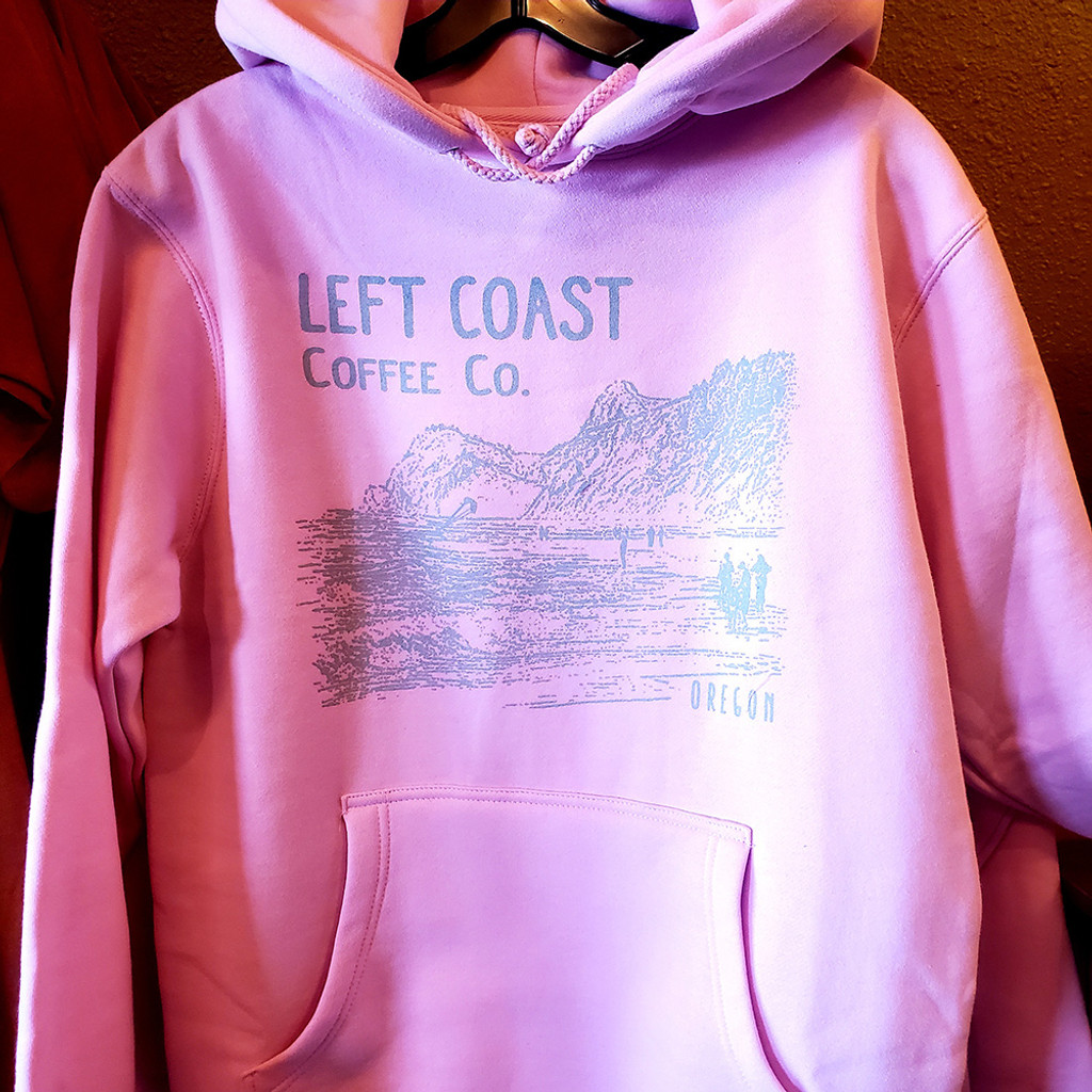 Left Coast Logo Hoodie - Bubble Gum Pink