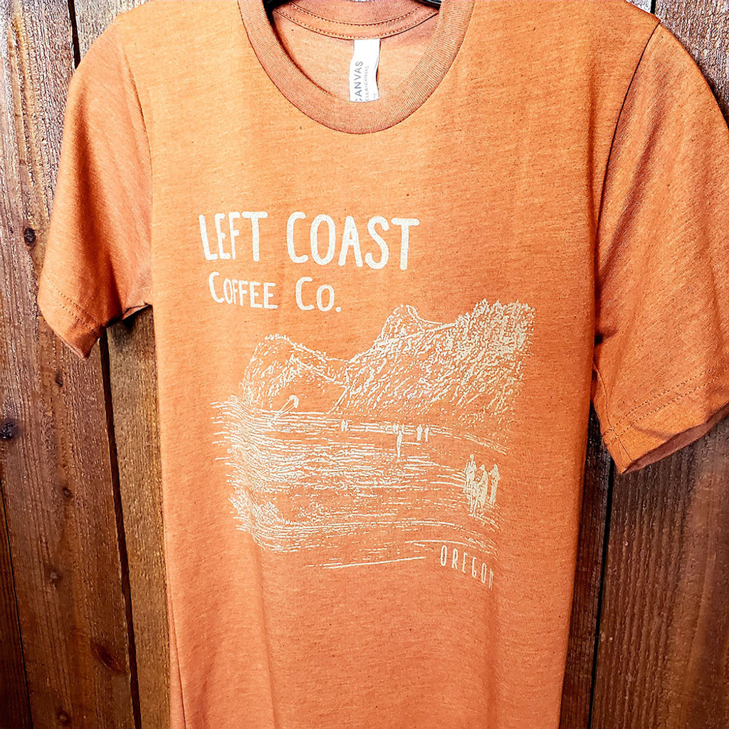 Left Coast Men's Logo Tee - Pumpkin Spice