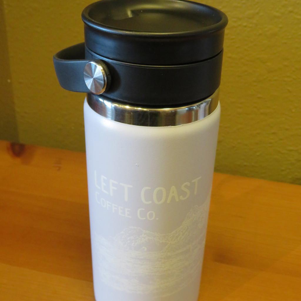 16oz Coffee with Flex Sip Lid - Fog w/ White Print