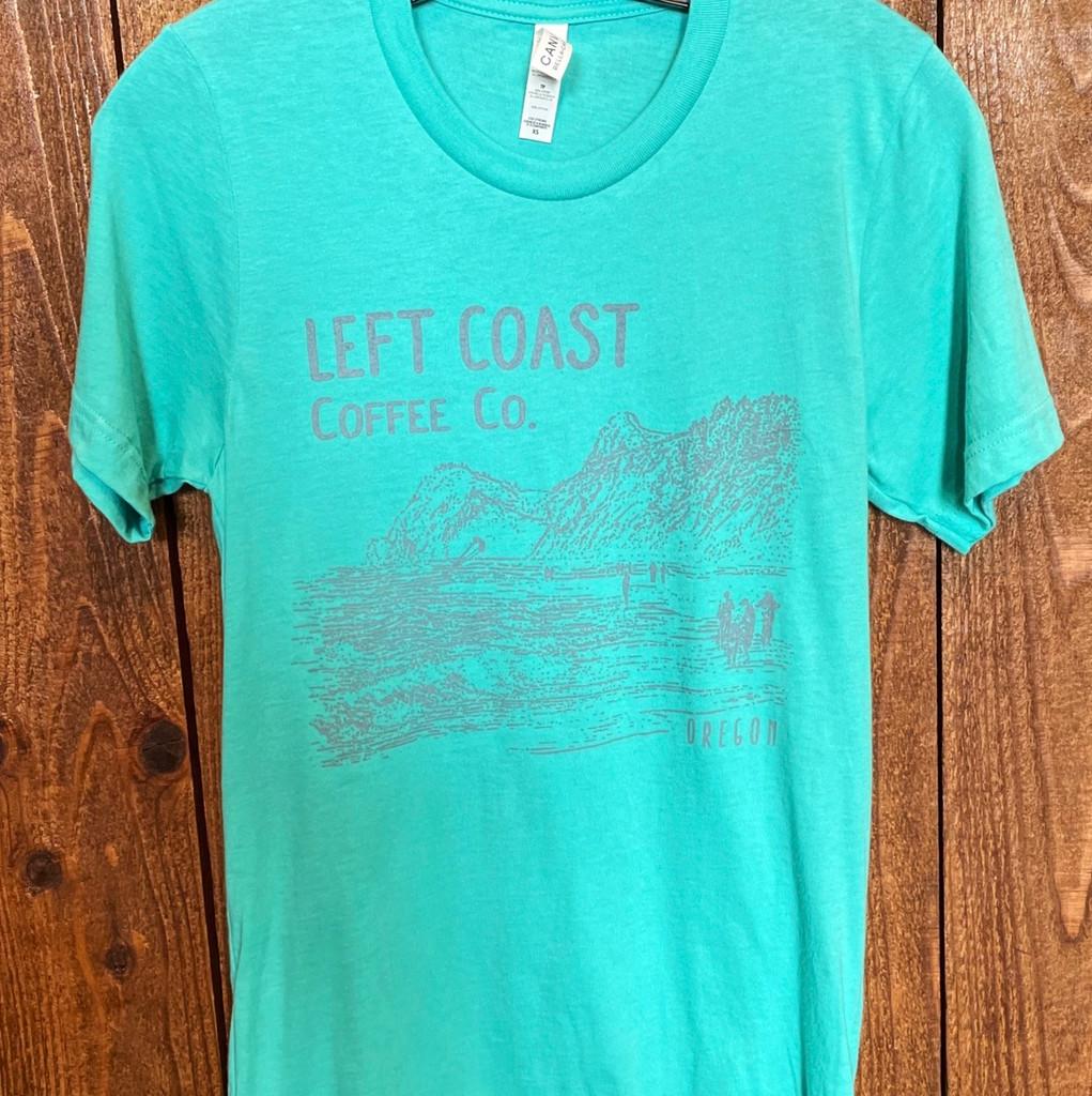 Left Coast Unisex Logo Tee - Teal