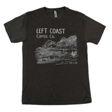 Left Coast Men's Logo Tee - Espresso