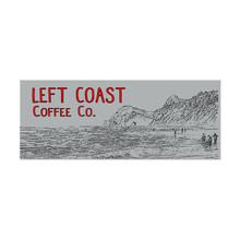 Left Coast Rectangle Sticker