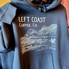 Left Coast Logo Hoodie - Deep Blue