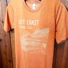 Left Coast Logo Unisex Tee - Pumpkin Spice