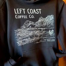 Left Coast Logo Sport Fit Stringless Hoodie - Black