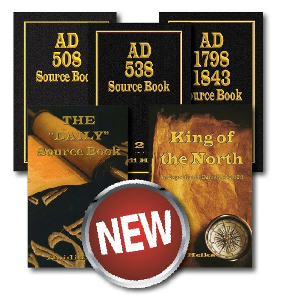 """5 Book Set on: AD 508, 538, 1798 1843, The """"Daily"""" Source Book, and King of the North"""