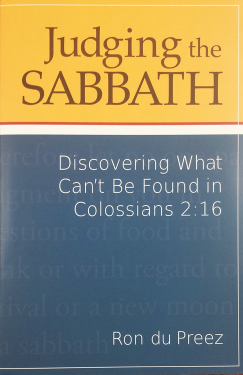 Judging The Sabbath