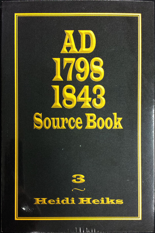 AD 1798 1843 Source Book