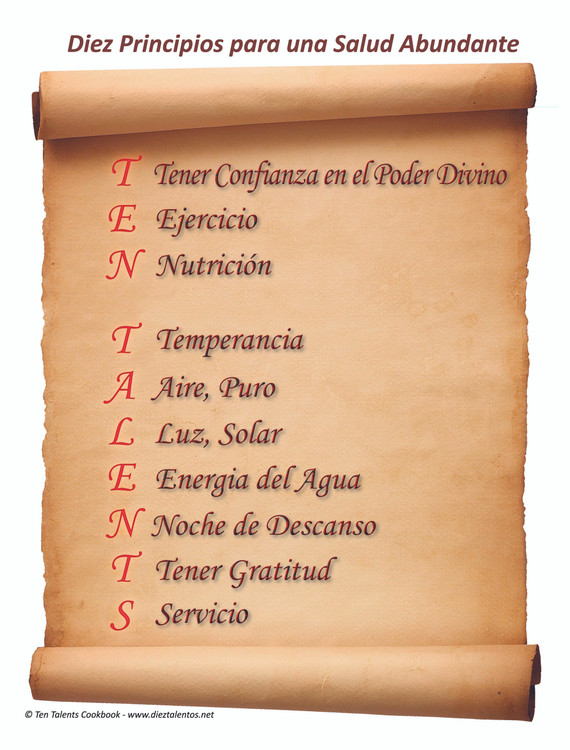 Diez Principios para una Abundante Salud