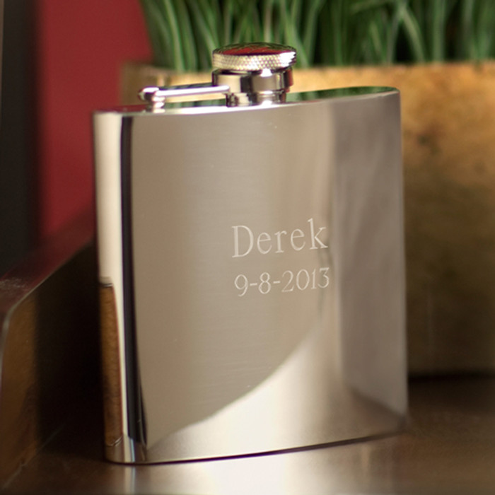 High Polished Stainless Steel 7 oz. Flask