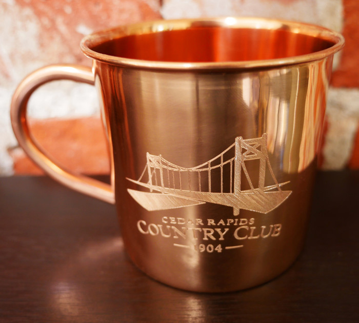 Set of 4 Personalized Copper Mugs