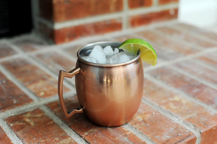Barrel Shape Copper Mug with stainless steel lining 16 oz