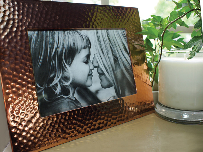 "Pure Copper Hammered Picture Frame 5""x7"""