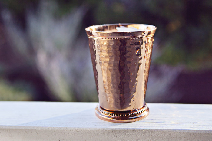 Hammered Copper Mint Julep Cup