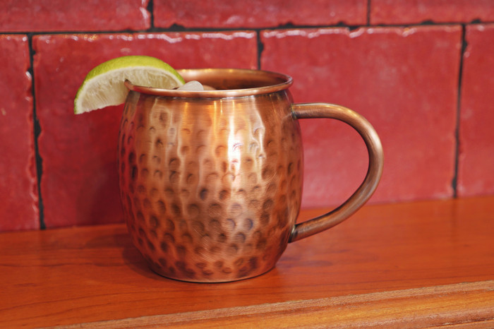 Pure Copper Antique Hammered Barrel Mug