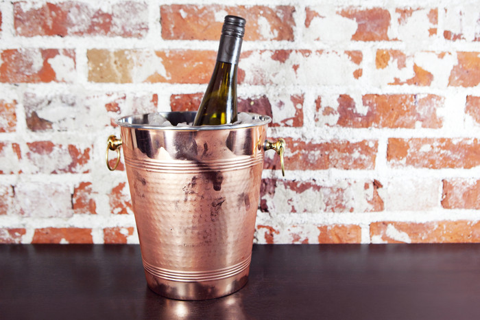 Hammered copper wine chiller