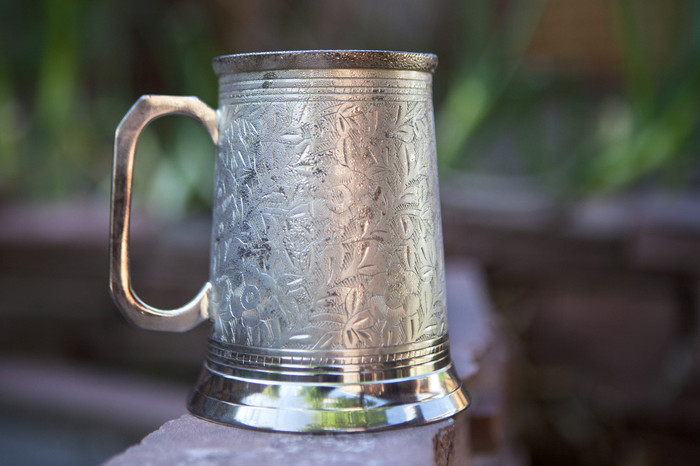 20 oz Silver Antique Beer Stein