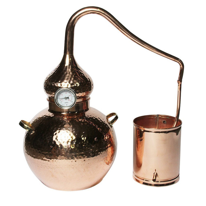 20L Premium Soldered Alembic Still with Thermometer
