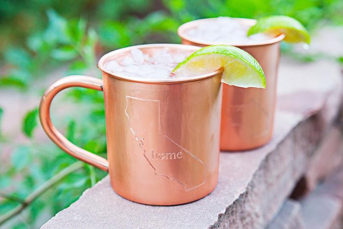 California Home Copper Mugs - Set of 2 14 oz Mugs