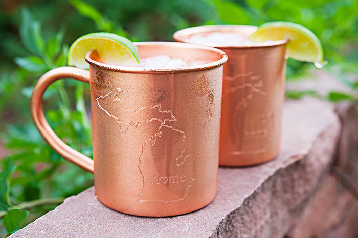 Michigan Home Copper Mugs - Set of 2 14 oz Mugs