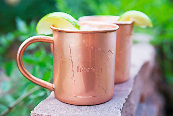 Minnesota Home Copper Mugs - Set of 2 14 oz Mugs