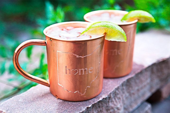 Ohio Home Copper Mugs - Set of 2 14 oz Mugs