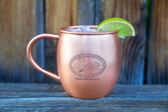 Bulk Etched Barrel Copper Mugs - Qty 100
