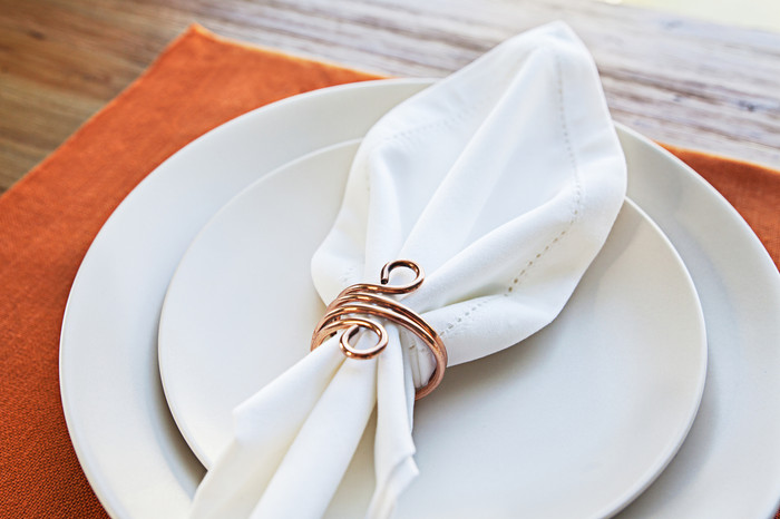 Copper Wire Napkin Rings (Set of 4)