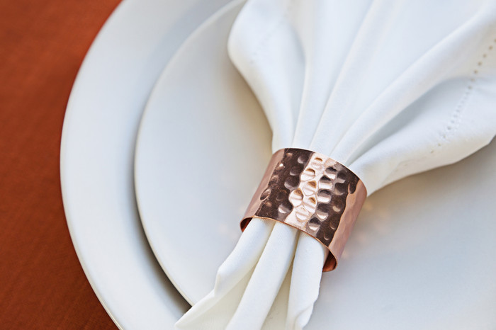 Hammered Copper Napkin Rings (Set of 4)