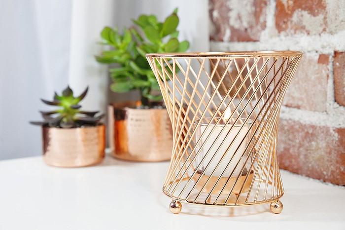 Convex Copper Wire Votive Candle Holder