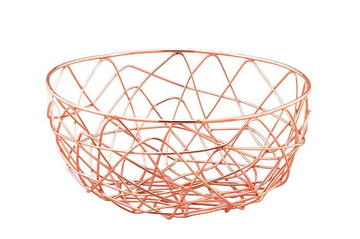 """Copper Wire Storage Basket-6.7"""""""