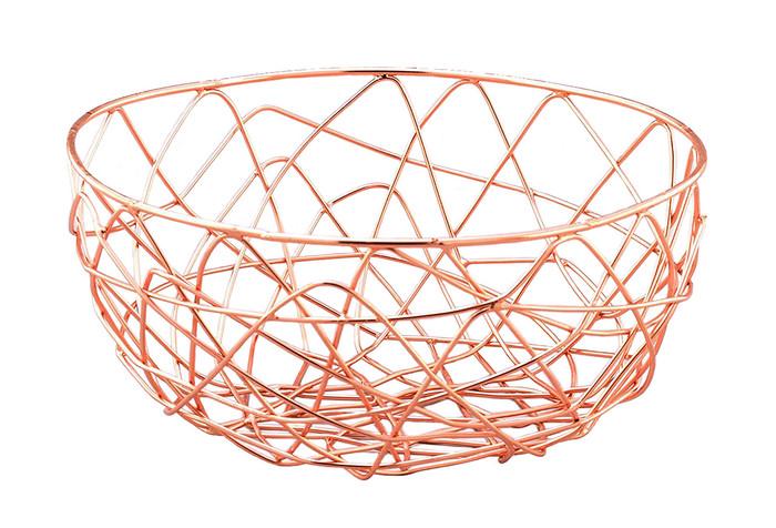 """Copper Wire Storage Basket-9"""""""