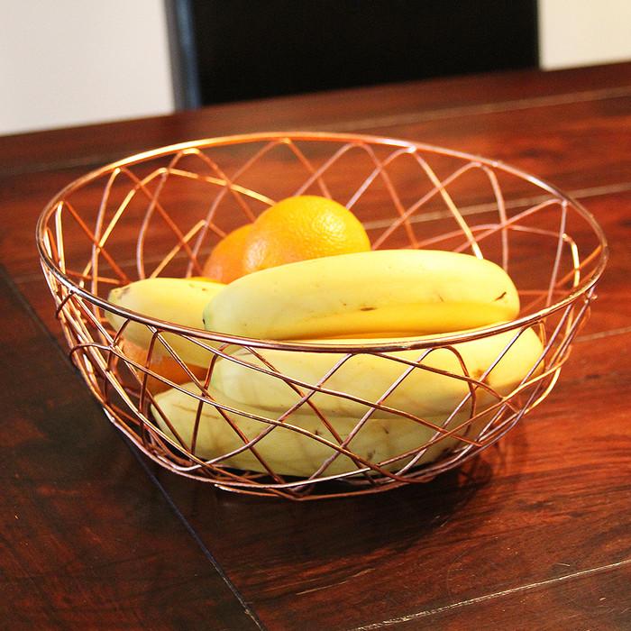 """Copper Wire Storage Basket-11"""""""