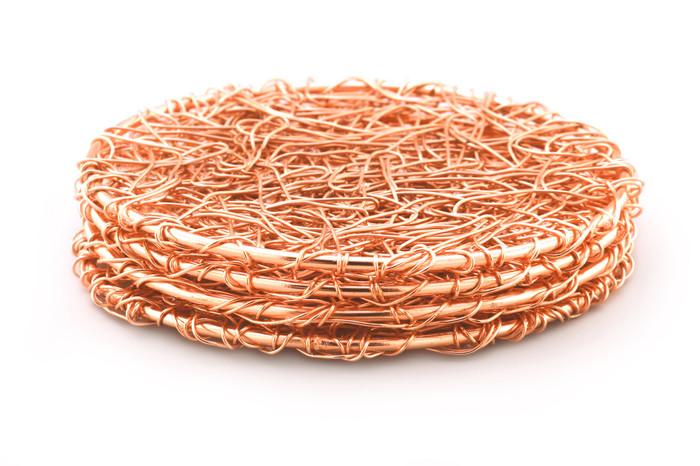 Copper Wire Coaster-Set of 4