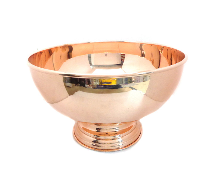"""Copper Punch Bowl - 12"""""""