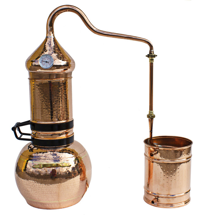 20L (5 Gallon) Premium Flip Top Column Alembic Still with Thermometer
