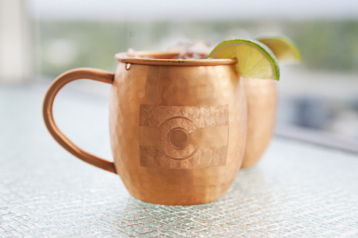 Colorado Hammered Copper Barrel Mugs (set of 2)