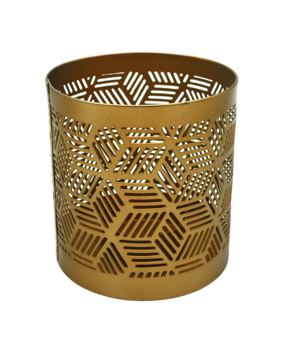 Brass Geometric Candle Holder