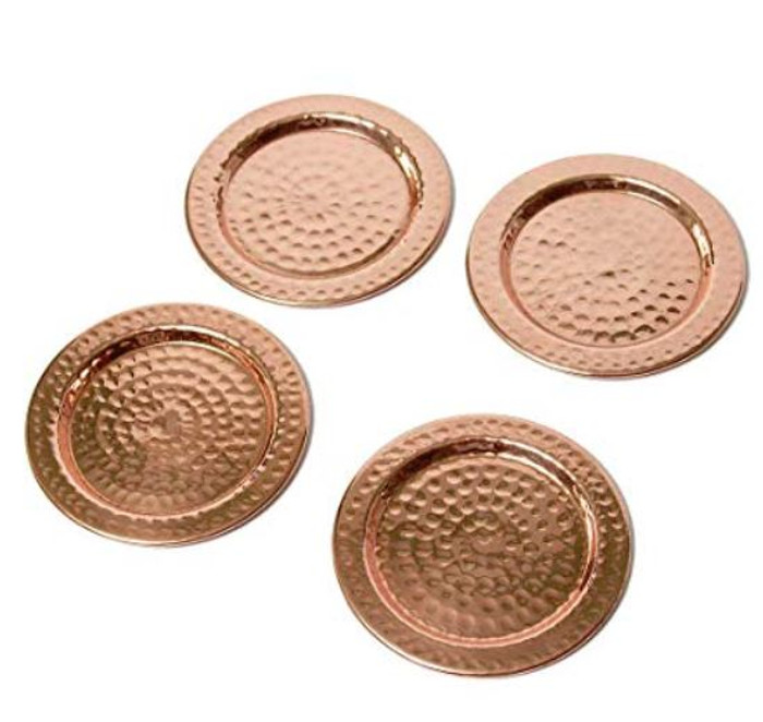 Hammered Copper Coasters (Set of 4)