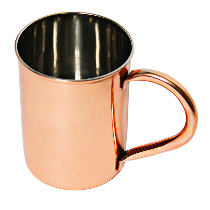 12 oz Smooth Stainless Steel Copper Plated Mugs