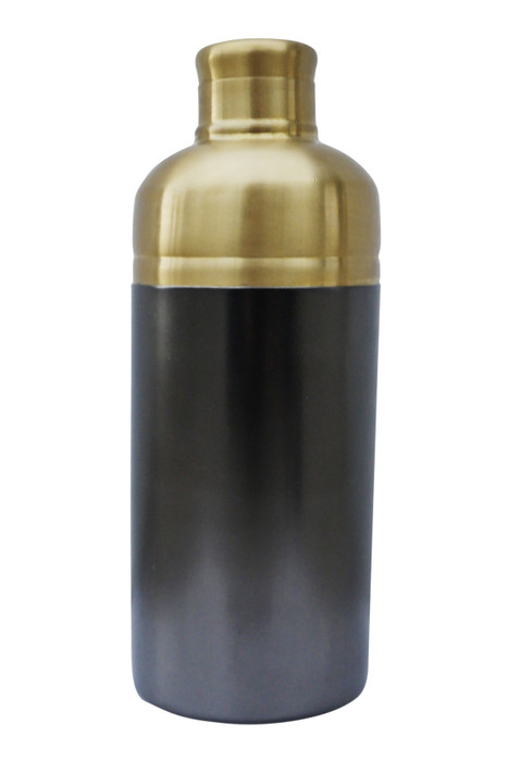 Nickel and Brass Cocktail Shaker