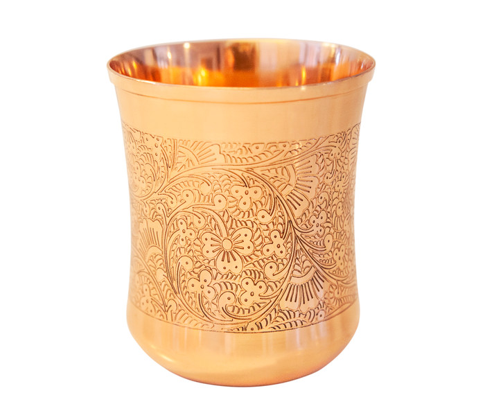 Tumbler With Floral Etching (10 oz)