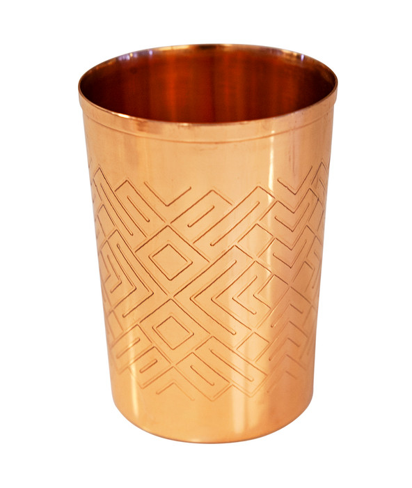 Tumbler With Geometric Design