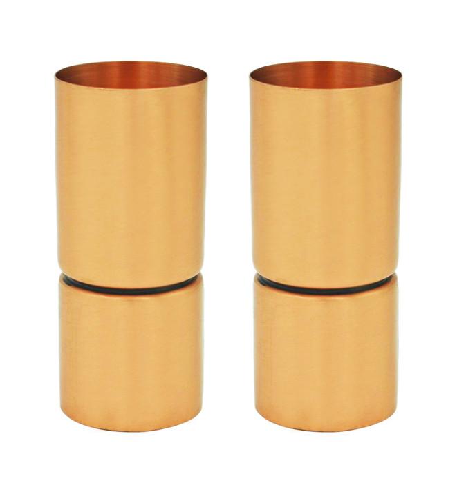 Modern Copper Jiggers (set of 2)