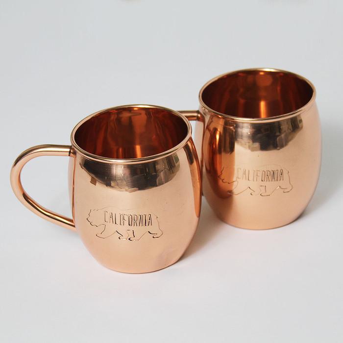 California Bear Copper Mugs